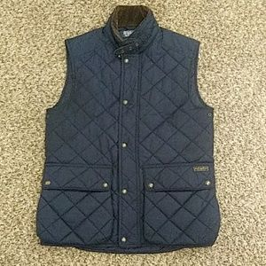 POLO by RALPH LAUREN Blue quilted Epson VEST Small